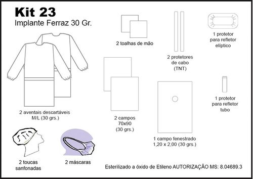 Kit 23 -  Implante FERRAZ 30 GR